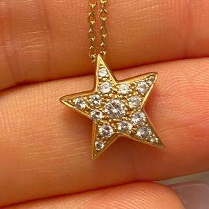 Chanel Star Comet Diamond Necklace